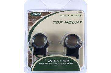 Weaver Detachable Top Mount Rings X-High Matte 49044
