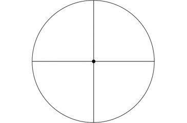 2-Weaver Fine Crosshair Target 24 x 40 mm T-Series Riflescope