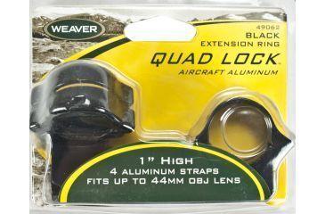 Weaver Rings Quad-Lock, 1in. High gh, Extended Black