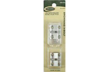 Weaver Top Mount Base Pair, Browning X-Bolt, Silver 48495