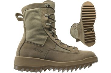 Wellco 80010-001 Military Boots - Desert Tan Ripple