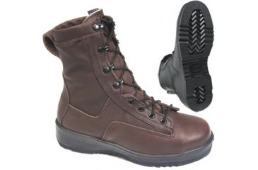 Wellco 80051-007 Military Boots - Navy Steel Toe Temperate Weather Aviator Boot