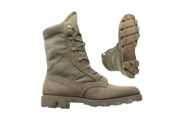 2-Wellco T130 Military Boots - Tan Hot Weather Army Combat Boot