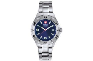 Wenger Swiss Military Mens Brigade Watch - Petrol Blue Sunray Dial w/ Bracelet 72948