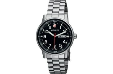 Wenger Commando Day-Date Men's Black Dial and Bracelet 70163