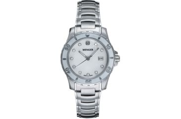 Wenger Ladies Sport Swiss Watch w/ white Mother of Pearl dial, with crystals bracelet 70388