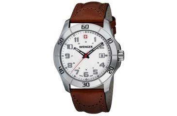 Wenger Mens Alpine Sport Watch w/ white dial bracelet 70480