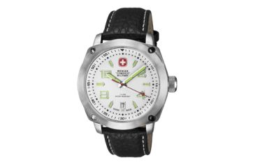 Wenger Mens Outback Sport Watch w/ White dial/black Leather strap 79370