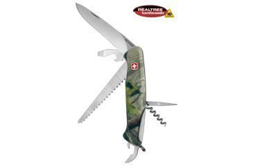 Wenger Realtree Hardwoods HD 55 Swiss Army Knife, Green Camo 16853