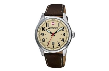 Wenger Sand Dial Brown Leather Strap 541106