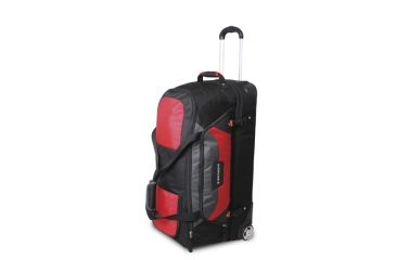 Wenger Sierre 30in rolling duffle bag, Red w/black 12437