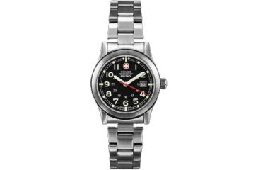 Wenger Swiss Military Ladies' Field Black Dial and Bracelet