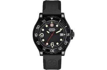 Wenger Swiss Military Ranger Black Bezel Black Dial and Black Rubber Strap 70902