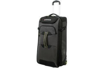 Wenger Terrian Crossing 28in rolling upright duffle bag, Grey w/ Lime 12496