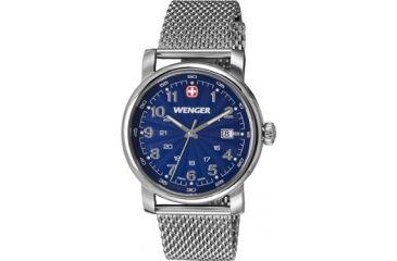 Wenger Urban Classic Blue Sunray Textured Dial, Stainless Steel Mesh Bracelet 1041.107