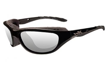 Wiley X AirRage Sunglasses - Clear/Gloss Black Frame 693