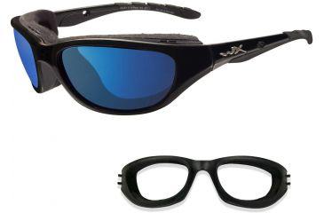 Wiley-X Air Rage Sunglasses - Polarized Blue Mirror Lens/Gloss Black Frame 698