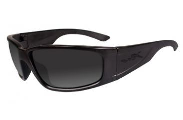 Wiley X Zack Black Ops Tactical Sunglasses - Matte Black, Gray Lenses ACZAK08