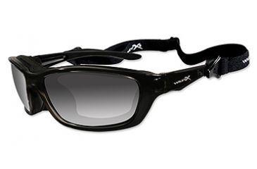 Wiley X Brick Sunglasses - Polarized Smoke Lens/Gloss Black Frame 857