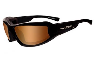 a313e3d78308 Wiley X Jake Sunglasses - Bronze Flash Lens  Gloss Black Frame CCJAK07