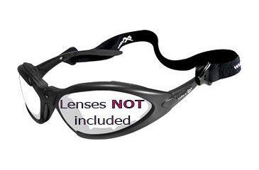 1-Wiley X JP 1 Sunglasses Matte Black Frame 500F w/ Gasket & Strap Only, No Lens