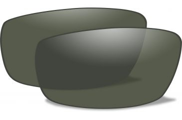 0455a4cf65fa Wiley-X P-17 Replacement Parts - Polarized Smoke Green Lens (LENS ONLY