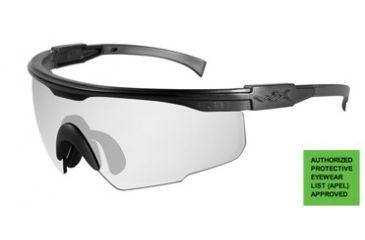 Wiley-X PT-1 Sunglasses - Clear Lens w/ RX Insert / Matte Black Frame  PT-1CRX