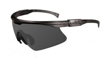 Wiley-X PT-1 Sunglasses - Matte Black Frame w/ Smoke Grey Lens w/ RX Insert PT-1SRX