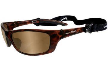 Wiley X P-17 Sunglasses - Bronze Brown Flash Lens / Gloss Demi Frame P-17NP
