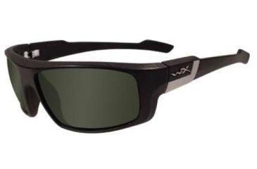 Wiley X Quake Sunglasses - Smoke Green Lenses, Black Frame SSQUA01