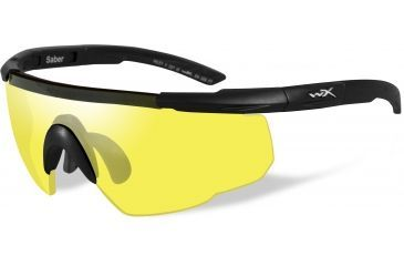 8331ba0a5d Wiley-X Saber Advanced Sunglasses - Matte Black Frame w  Pale Yellow Lens  300