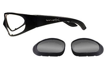 Wiley X SG-1 Matte Black Frame w/1 Pair Lens Gaskets-Asian Fit