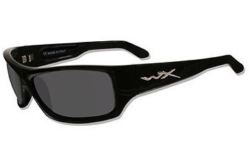 Wiley-X SLIK Sunglasses, Gloss Black Frame, Smoke Lenses
