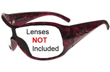 Wiley X Stomp Sunglasses Frame ONLY Gloss Red Leopard SSSTO03F