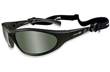 Wiley-X Trigger Motorcycle Sunglasses Smoke Green Lens / Matte Black Frame