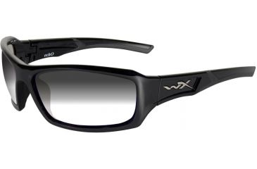 Wiley X Censor Sunglasses - LA Smoke Gray Lenses w/ Gloss Black Frame CCECH05