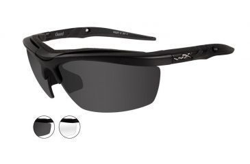 f7e57d2d896f5 Wiley X Guard Sunglasses - Clear Smoke Gray Lens   Matte Black Frame 4004