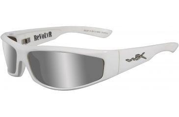 Wiley X Revolvr - Silver Flash/Bronze Tint Lenses w/ Pearl White Frame SSREV3