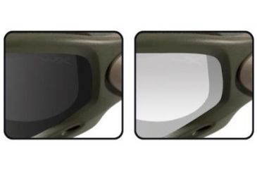 Wiley X Spear - Smoke Gray & Clear Lenses - Close-up SP29G