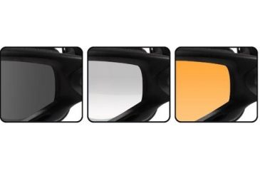 Wiley X Spear - Smoke Gray, Clear, Light Rust Lenses - Close-up SP293B