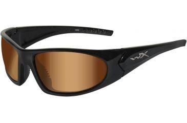 Wiley X WX Zen ACZEN RX Single Vision Sunglasses - Gloss Black Frame ACZEN01RX