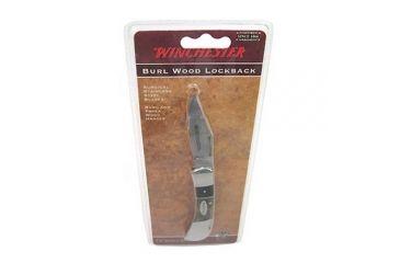Winchester Knives Double Bolster Burl Wood Lockback, 2.5in. Blade 49267