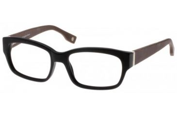 Wood U? 702 Single Vision Rx Eyeglasses - Matte Black-Dark Mahogany Frame, Mat Black-Dark Mahogany, 50-18-145 WD702RX