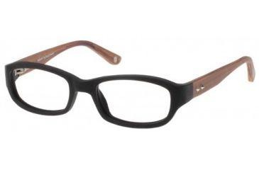 Wood U? 703 Single Vision Rx Eyeglasses - Black-Nutmeg Violet Frame, Black-Nutmeg Violet, 50-16-135 WD703RX