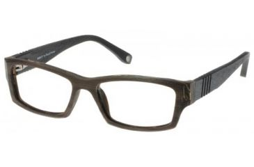 Wood U? 705 Single Vision Rx Eyeglasses - Bark-Black Frame, Bark-Black, 52-18-140 WD705RX