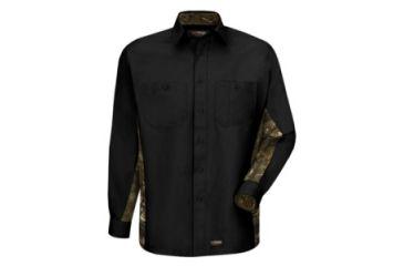 410c7863e949f Wrangler Workwear Work Camo Long Sleeve Work Shirt, Black, RG S WS30BC RG S