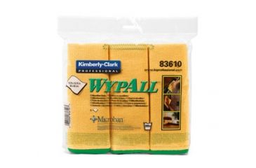 Wypall Microfiber Cloths with Microban Protection, Green, 15.75in. x 15.75in. 83630