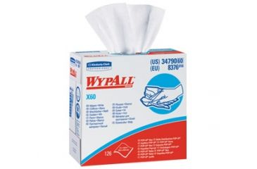 Wypall X60 Wipers, Brag Box, White, 12.5in.x16.8in. 34015