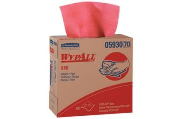 Wypall X80 Wipers, 1/4 Fold, Red, 12.5in. x 13in. 41029