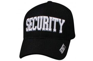 Zan Headgear 3-D Embroidered Black Cap Security White CPA003